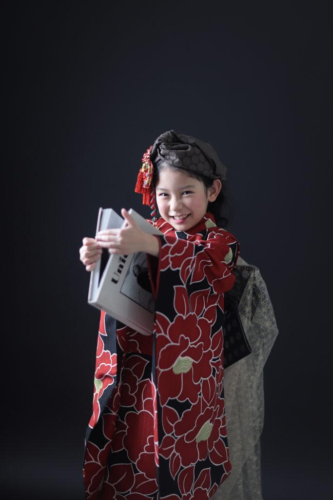 七歳女の子の七五三ヘアスタイルポニーテール