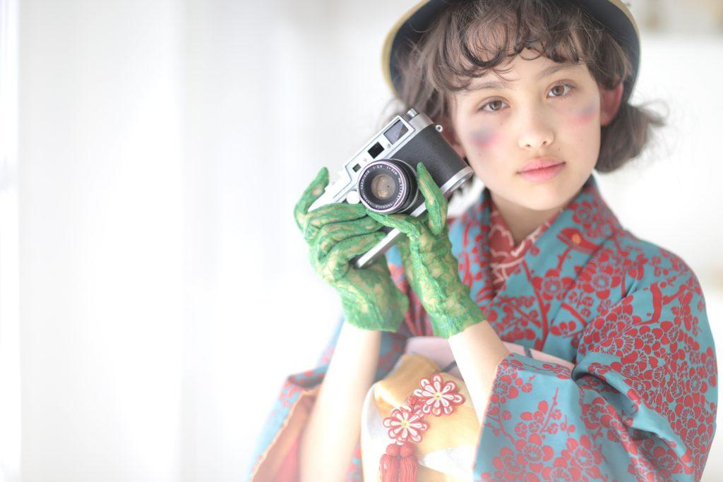 ハーフ成人式女の子着物