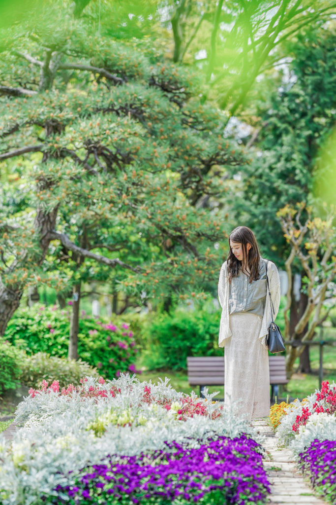 鶴舞公園で撮影したロケーションフォト