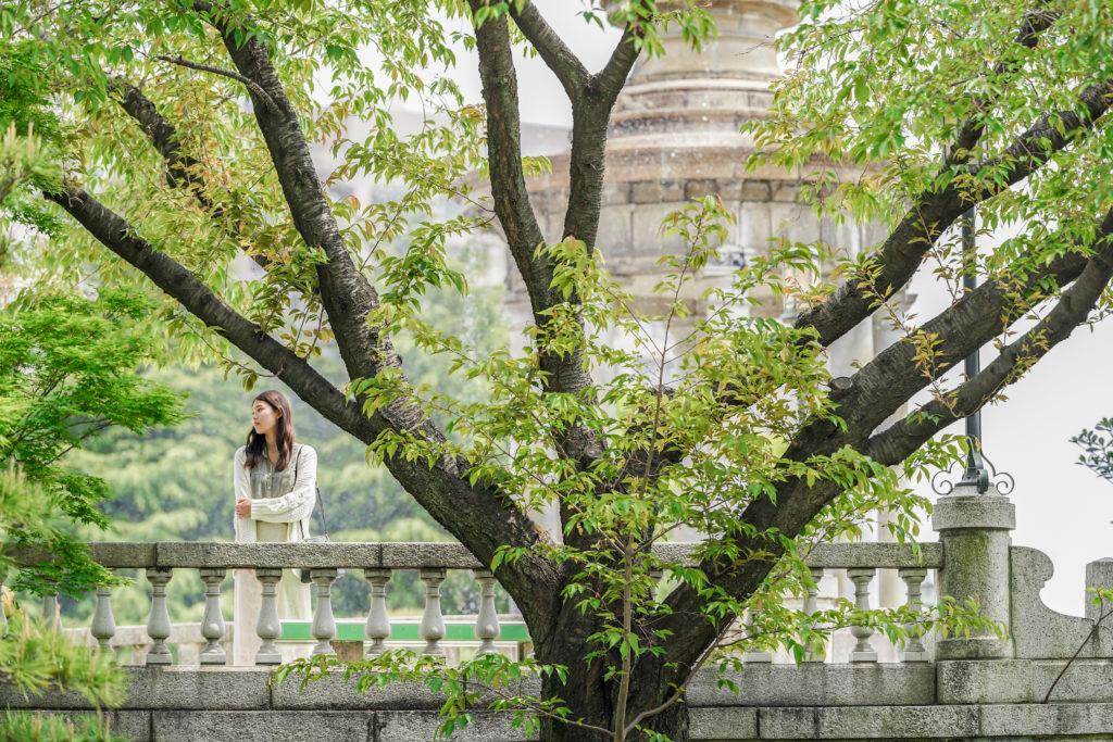 名古屋の鶴舞公園で撮影したカップルポートレート