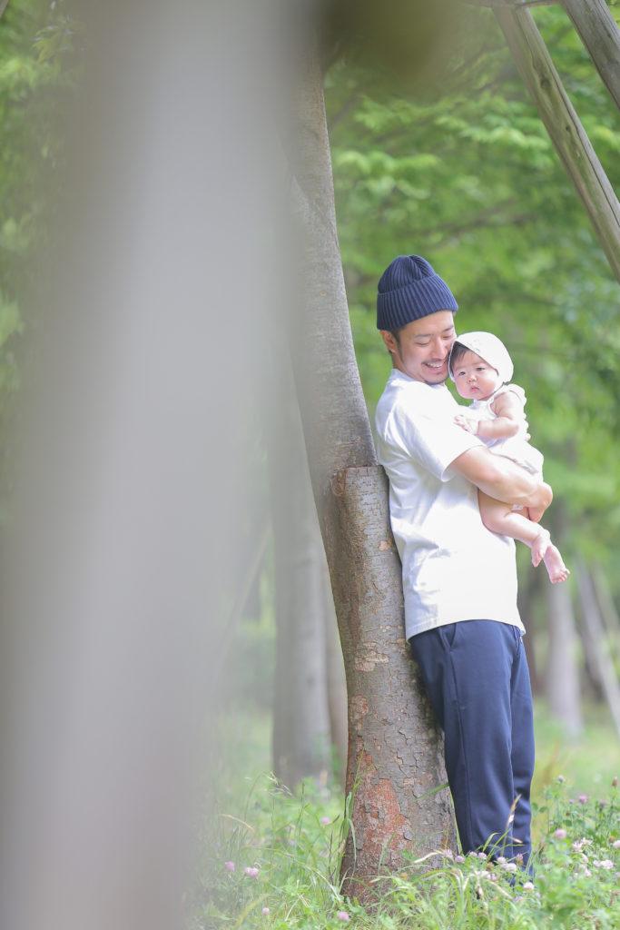 父と娘の写真