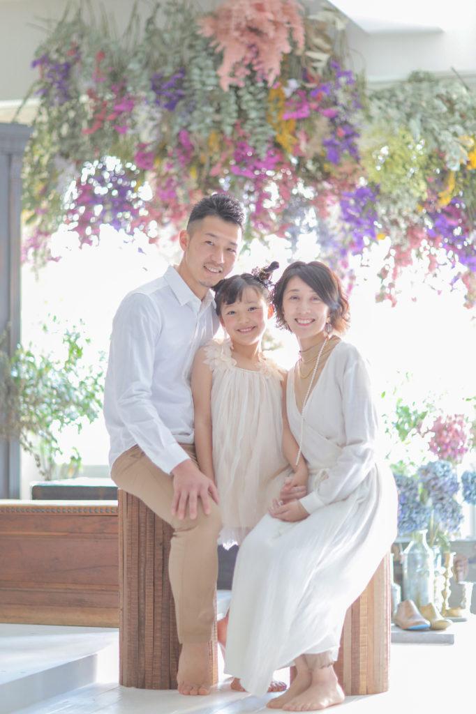 家族写真のおしゃれなコーディネート