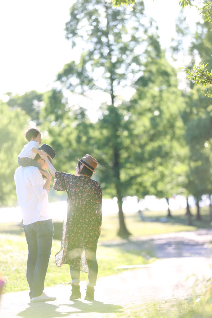名古屋で撮影した家族写真のロケーションフォト