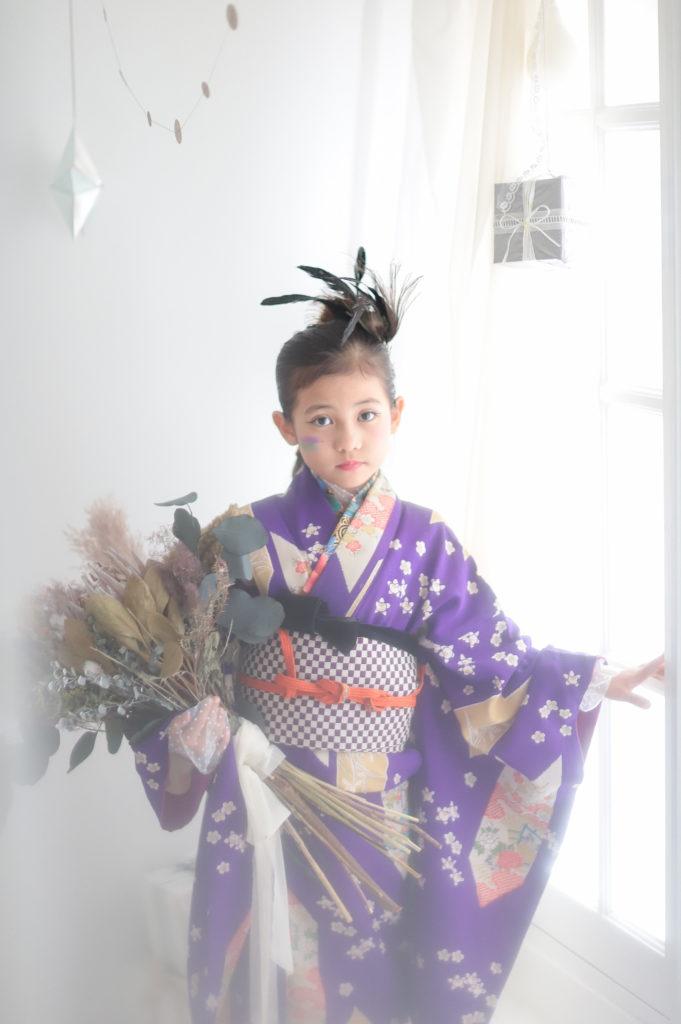 名古屋のフォトスタジオで撮影された七五三写真