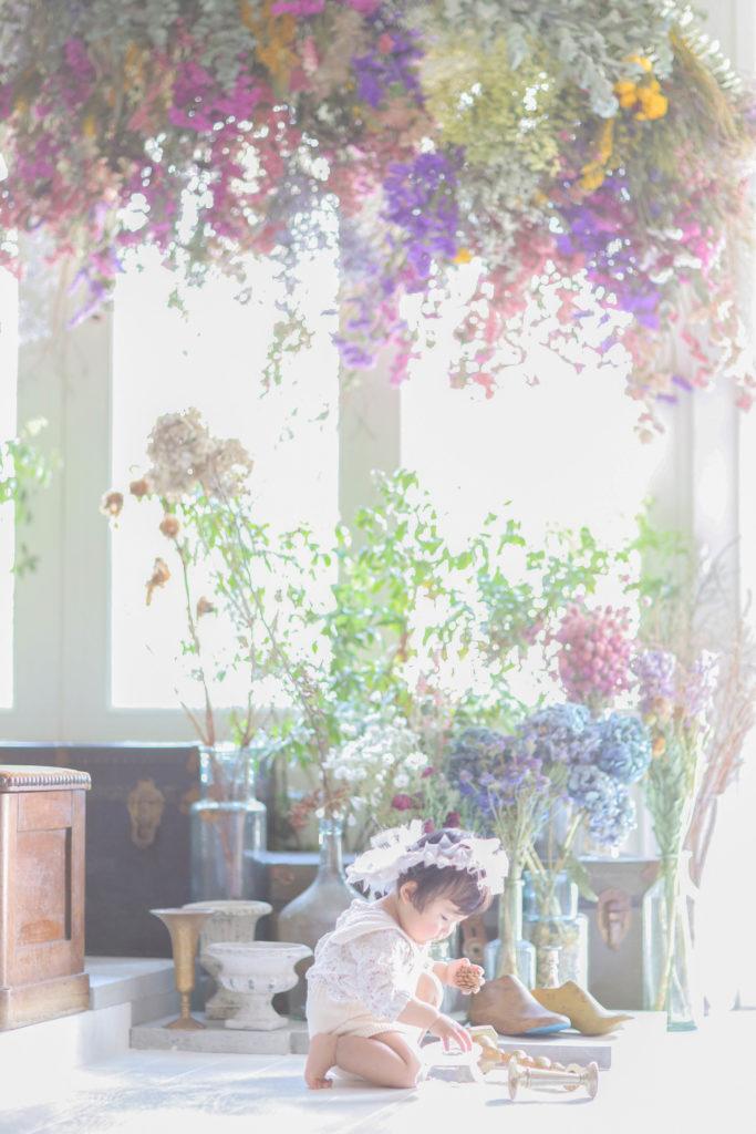 名古屋のフォトスタジオで撮影したおしゃれなベビーフォト