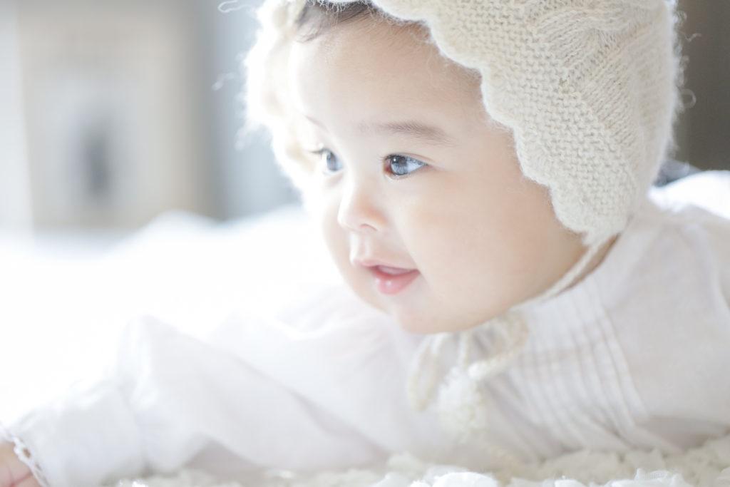 名古屋のフォトスタジオで撮影した赤ちゃん写真