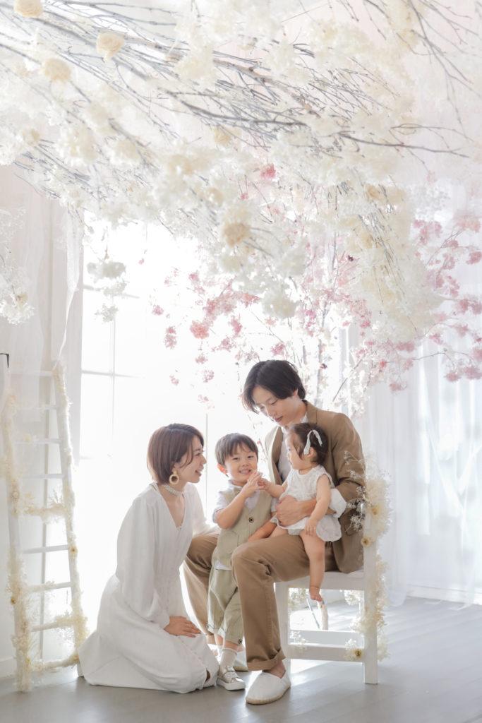 家族写真のコーディネート